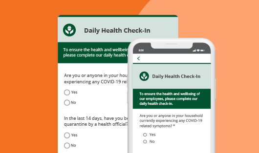 Daily health covid-19 check-in survey