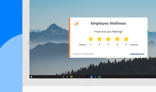 Employee wellness pulse survey