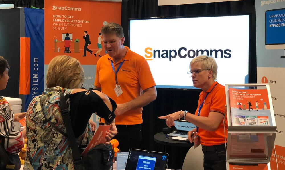 Chris & Jane from SnapComms at the Beckers healthcare conference