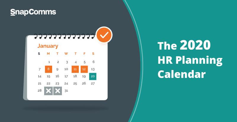 HR annual planning calendar 2020