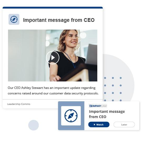 CEO alert update message