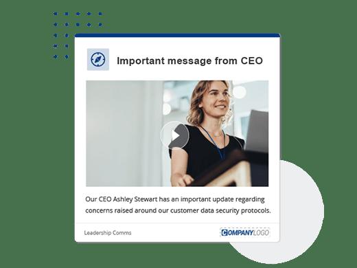 important CEO message desktop alert