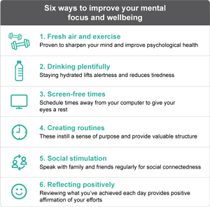 Health and wellbeing tips