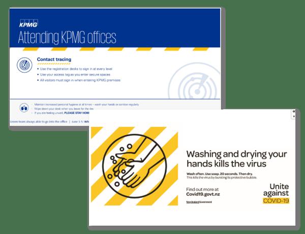 Coronavirus protection messages to staff