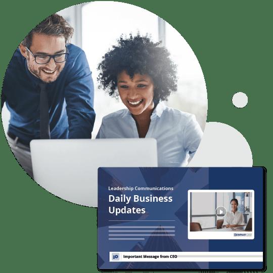 Daily business leadership updates screensaver