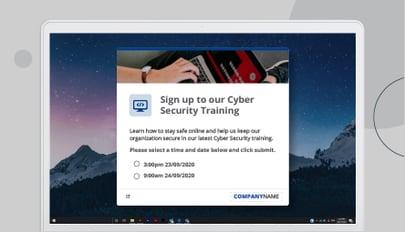 Cyber security RSVP alert