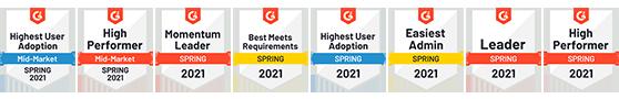 G2 Spring Badges 20221