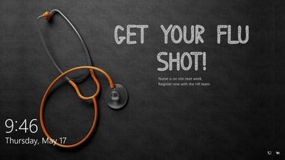 Get your flu shot lock screen