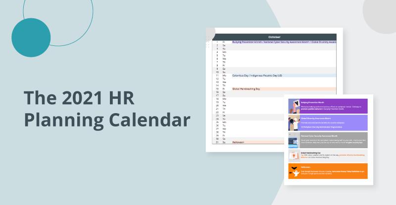 HR annual planning calendar 2021