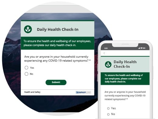 Health check-in survey phone