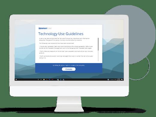 IT Communications desktop alert