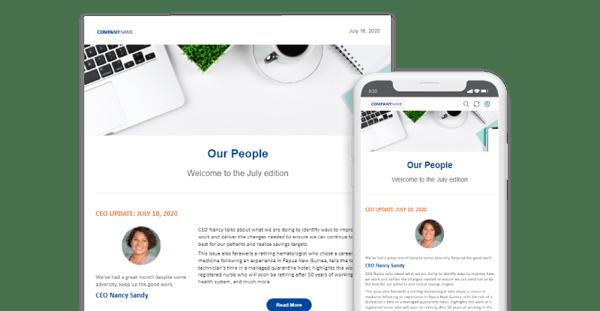 Digital internal newsletter software
