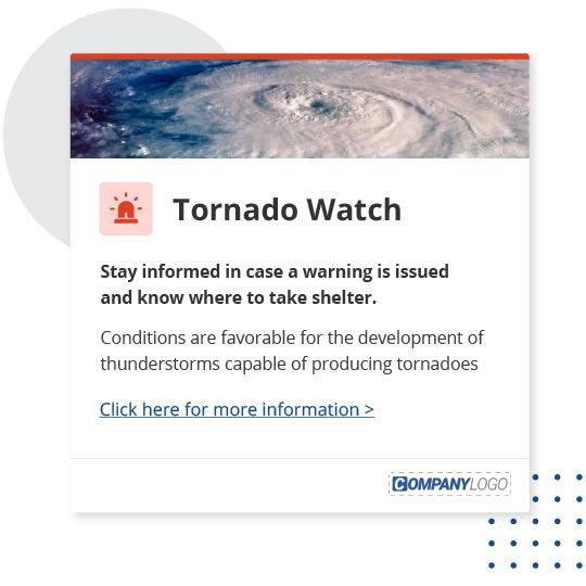 Tornado warning desktop alert