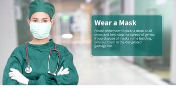 Healthcare mask protocol message