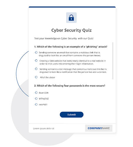 cyber security quiz template