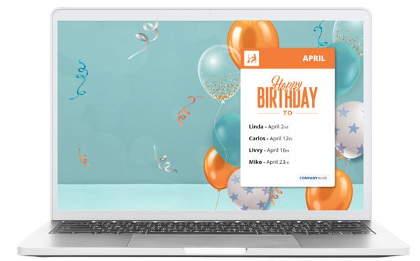 birthday communications screensaver