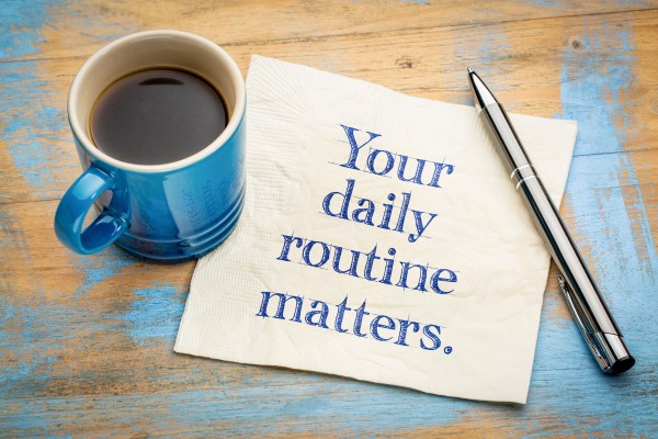 employee wellbeing daily routine