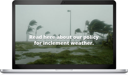 inclement policy screensaver