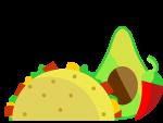 taco, avocado, chilli