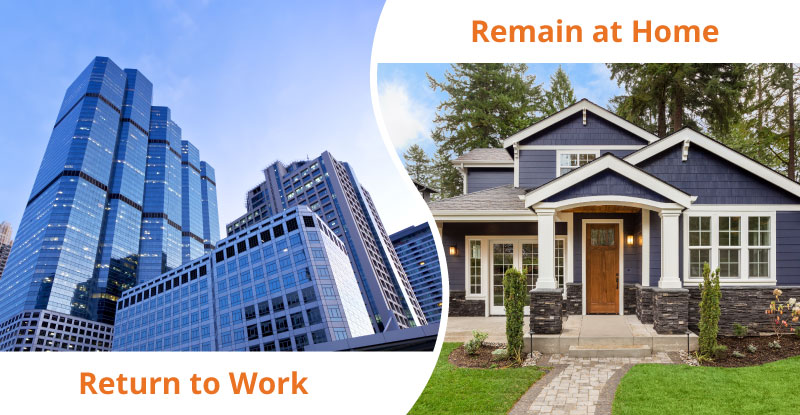 return to work or remain at home considerations