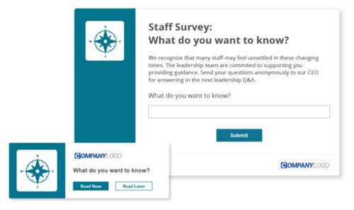 Employee change survey