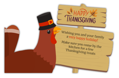 thanksgiving staff message