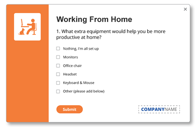 working from home survey