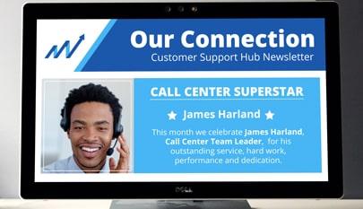 Call center newsletter