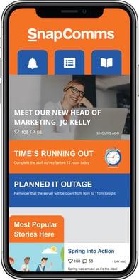 Employee mobile app example