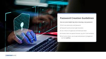 cyber security password tip wallpaper