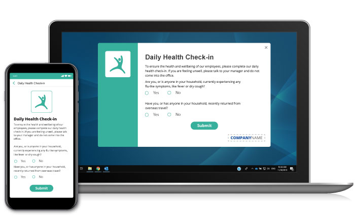 Daily health check-in