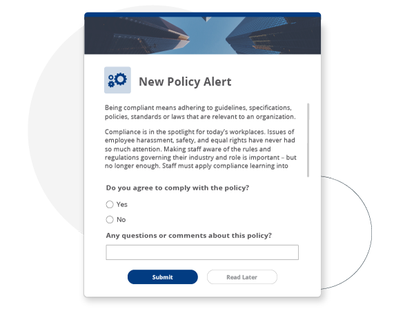 New policy compliance alert