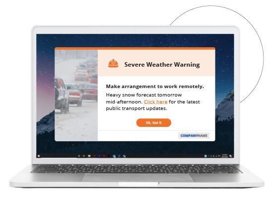 desktop employee communication alert