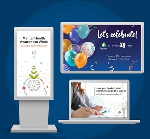 digital signage promotional communication