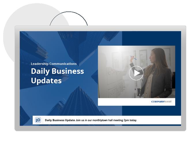 Leadership video message update