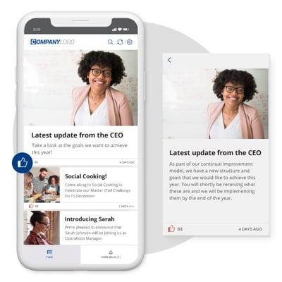 Employee mobile app software