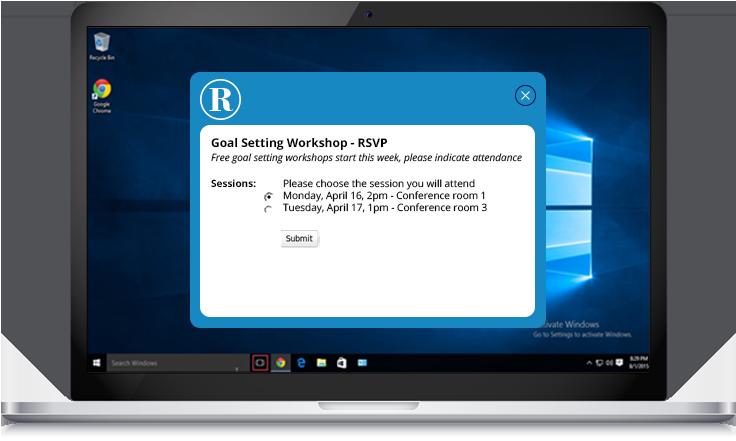 goal setting workshop rsvp example