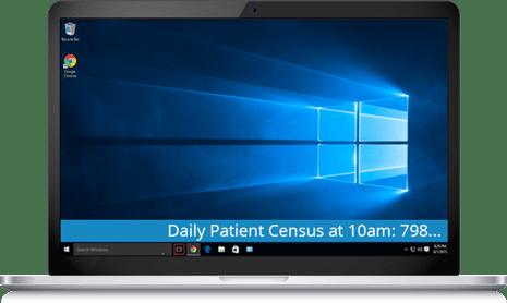 patient census ticker