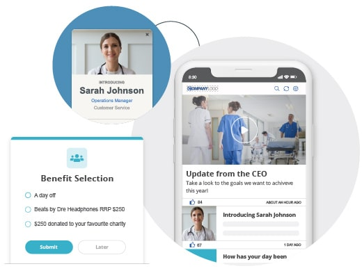 Employee app HR alerts and stories