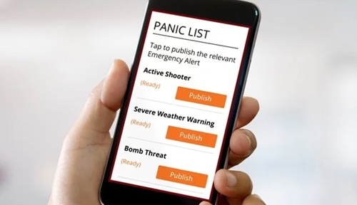 Panic Button List on mobile