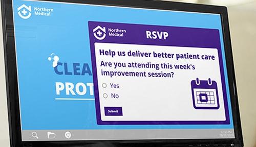 Hospital rsvp alert message