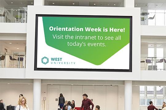 digital signage in university