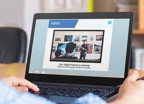 financial services digital strategy video alert