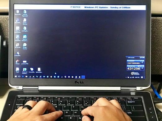 TIS Ticker on desktop