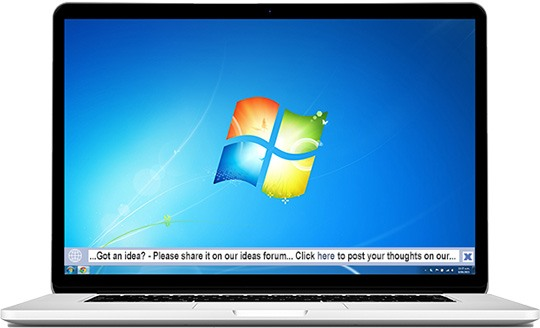 desktop ticker scrolling on laptop screen
