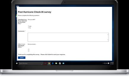 Internal crisis staff survey