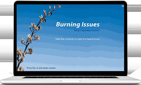 screensaver link to intranet
