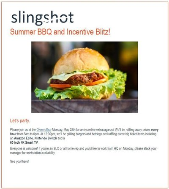 slingshot BBQ alert