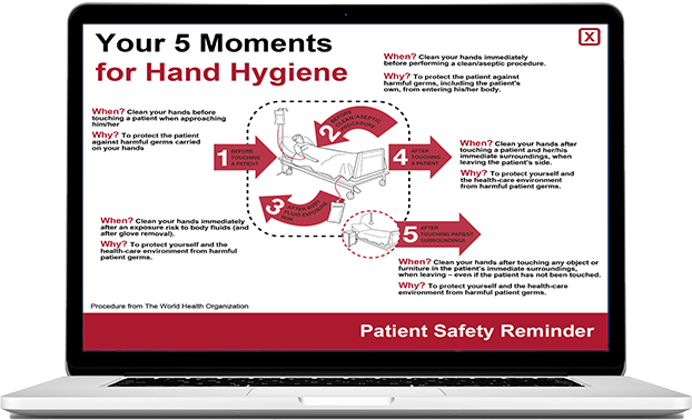 hand hygiene awareness screensaver