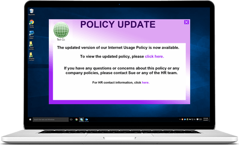 compliance desktop alert
